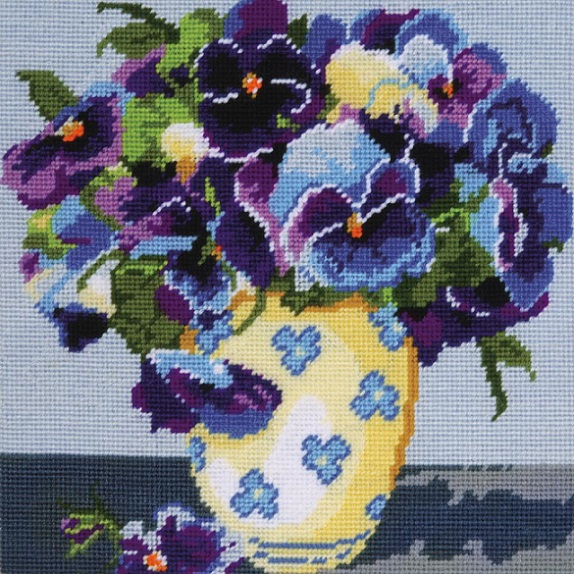 click here to view larger image of Pansies Needlepoint (needlepoint kits)
