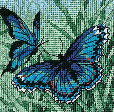 click here to view larger image of Butterfly Duo (needlepoint kits)