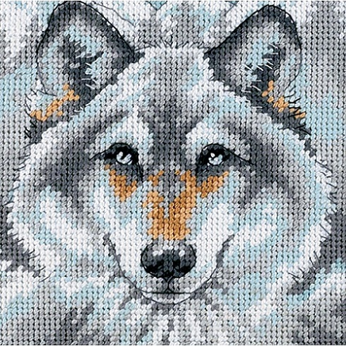click here to view larger image of Call of the Wolf (needlepoint kits)