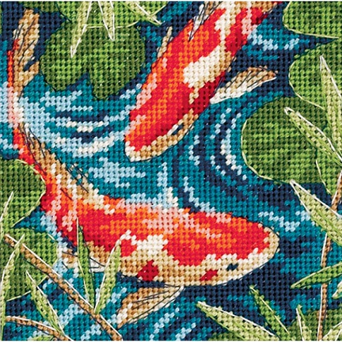 click here to view larger image of Koi Pond (needlepoint kits)