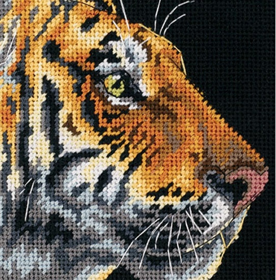 click here to view larger image of Tiger Profile (needlepoint kits)