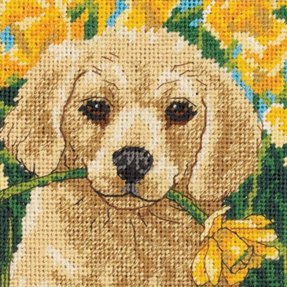 click here to view larger image of Puppy Mischief (needlepoint kits)