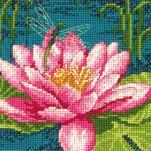 click here to view larger image of Dragon Lily (needlepoint kits)