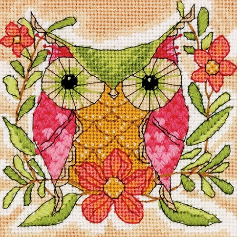 click here to view larger image of Whimsical Owl (needlepoint kits)