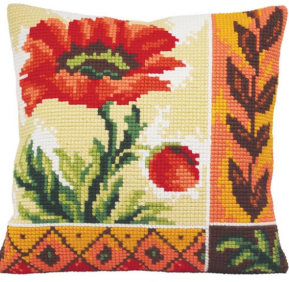click here to view larger image of Coquelicot Nouveau (New Poppy) (needlepoint kits)