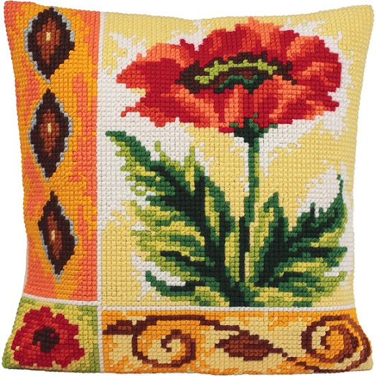 click here to view larger image of Coquelicot Vaillant (Valiant Poppy) (needlepoint kits)