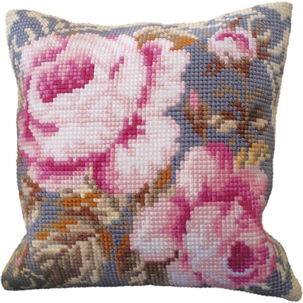 click here to view larger image of Rose Ancienne (Vintage Rose) (needlepoint kits)