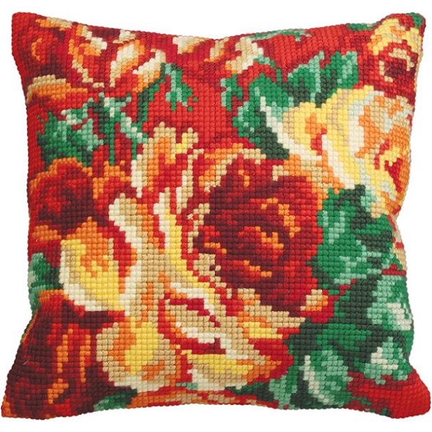 click here to view larger image of Rose Chou (Cabbage Rose) (needlepoint kits)