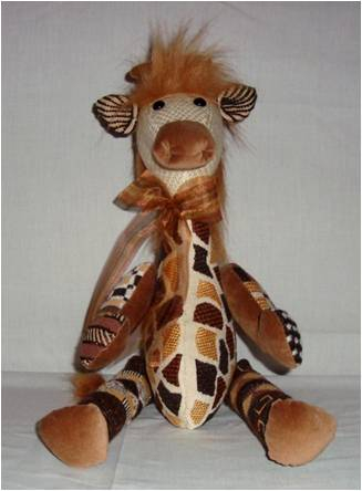 click here to view larger image of George Giraffe (hand painted canvases)