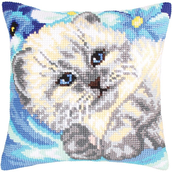 click here to view larger image of Cute Kitten (needlepoint kits)