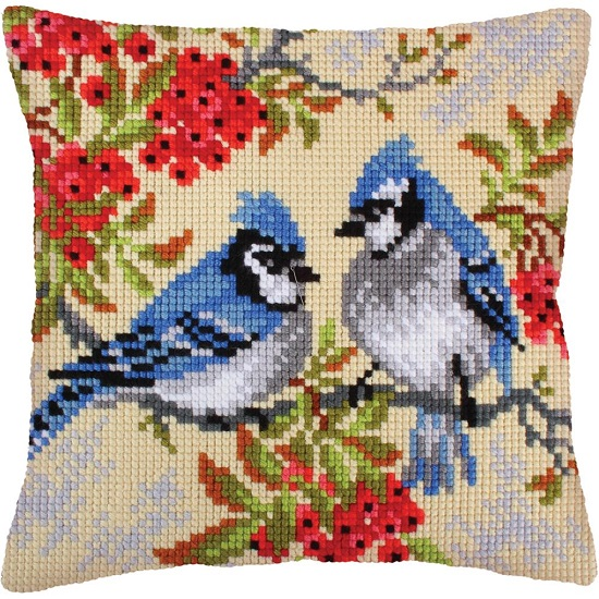 click here to view larger image of Blue Jays (needlepoint kits)