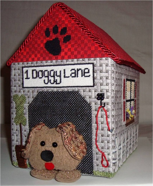 click here to view larger image of In The Doghouse (hand painted canvases)
