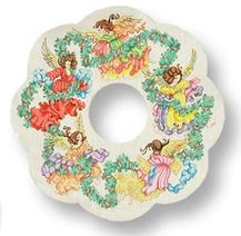 click here to view larger image of Angels Wreath (hand painted canvases)