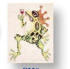 click here to view larger image of Frog With Crown (hand painted canvases)