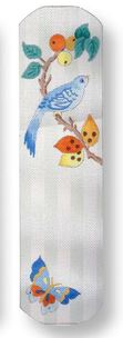 click here to view larger image of Bird Eyeglass Case (hand painted canvases)