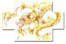 click here to view larger image of Dragon Doorstop (hand painted canvases)