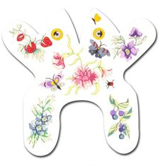 click here to view larger image of Baby Flower Frog (hand painted canvases)