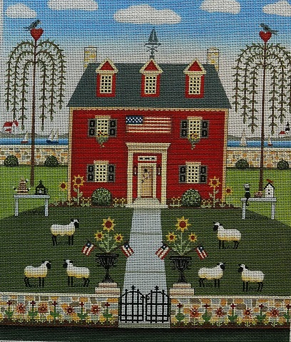click here to view larger image of Colonial By The Sea (hand painted canvases)