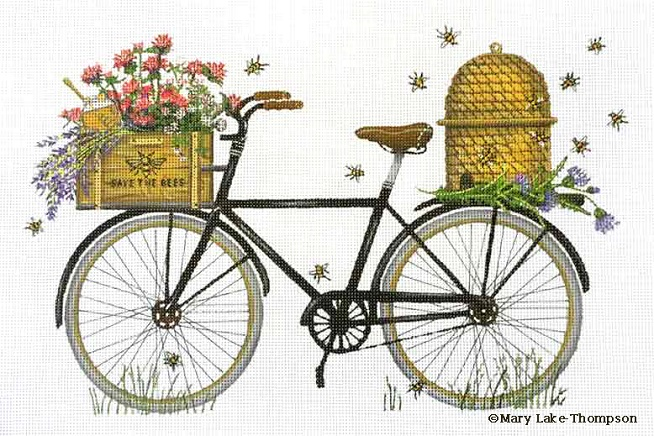 click here to view larger image of Bee Bicycle (hand painted canvases)