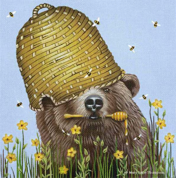 click here to view larger image of Honey Bear (hand painted canvases)