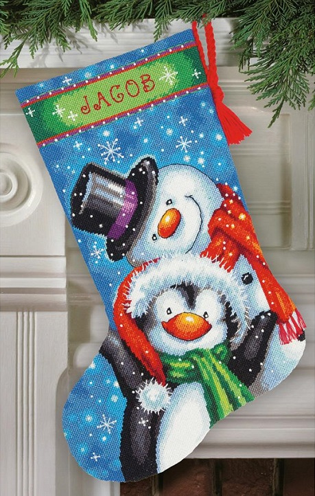 click here to view larger image of Polar Pals Stocking (needlepoint kits)