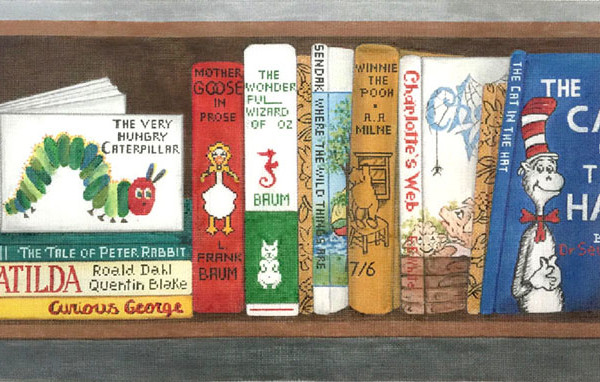 Childrens Classics Books hand painted canvases