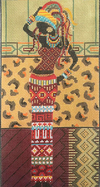 click here to view larger image of African Woman In Red (hand painted canvases)