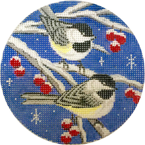 click here to view larger image of Birds On Blue Sky Ornament (hand painted canvases)