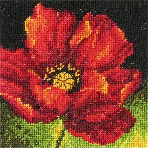 click here to view larger image of Red Poppy (needlepoint kits)