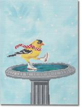 click here to view larger image of Yellow Bird Ice Skating (hand painted canvases)