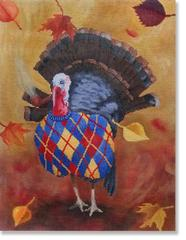 click here to view larger image of Norman Turkey (hand painted canvases)
