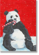 click here to view larger image of Christmas Panda Bear (hand painted canvases)