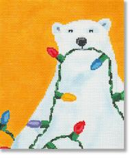 click here to view larger image of Christmas Polar Bear (hand painted canvases)
