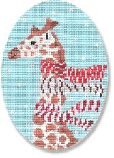 Giraffe With Scarves Ornament hand painted canvases