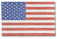 click here to view larger image of American Flag Ornament (hand painted canvases)