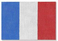 click here to view larger image of French Flag Ornament (hand painted canvases)
