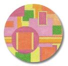 click here to view larger image of Circles Squares and Shapes Ornament (hand painted canvases)