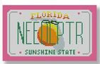 click here to view larger image of Mini License Plate - Florida (hand painted canvases)
