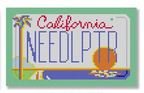 click here to view larger image of Mini License Plate - California (hand painted canvases)