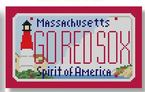 click here to view larger image of Mini License Plate - Go Red Sox - Massachusetts (hand painted canvases)
