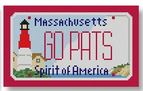 click here to view larger image of Mini License Plate - Go Pats - Massachusetts (hand painted canvases)