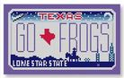 click here to view larger image of Mini License Plate - Go Frogs - Texas (hand painted canvases)