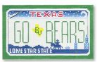 click here to view larger image of Mini License Plate - Go Bears - Baylor University, Texas (hand painted canvases)