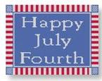 click here to view larger image of Happy July Fourth (hand painted canvases)