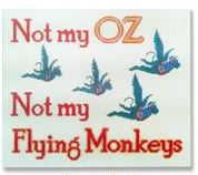 click here to view larger image of Not My Oz (hand painted canvases)