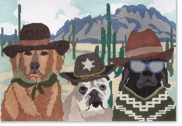 click here to view larger image of Border Patrol (hand painted canvases)