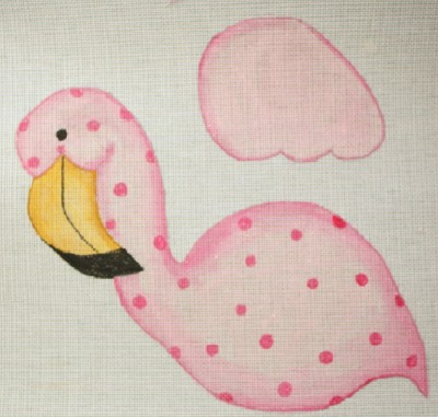 click here to view larger image of Flamingo - Right Facing (hand painted canvases)
