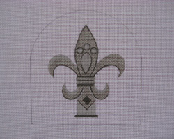 click here to view larger image of Mercury Fleur De Lis (hand painted canvases)