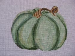 click here to view larger image of Green Pumpkin (hand painted canvases)