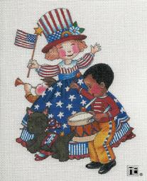 click here to view larger image of Americute! (hand painted canvases)